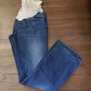 Old Navy maternity jeans full panel used